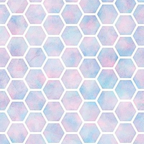 Watercolor Honey Comb Pattern