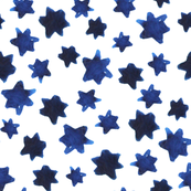 Watercolor Indigo Stars