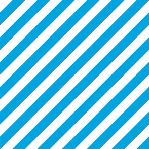 Diagonal Stripes Blue
