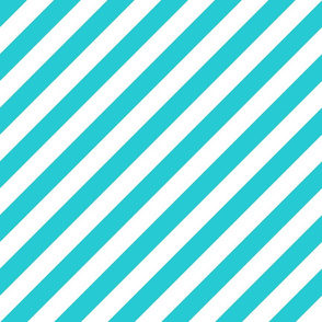 Diagonal Stripes Teal