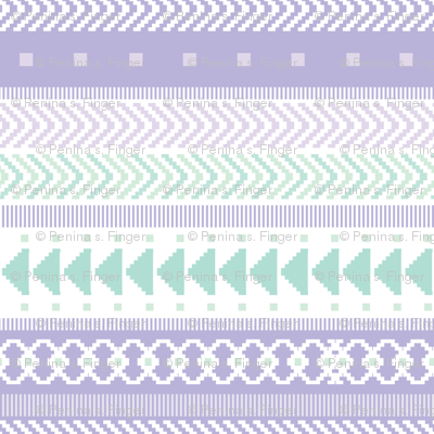 Lavender & Seaglass Tribal Geometric