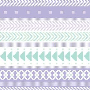Lavender & Seaglass Tribal Geometric