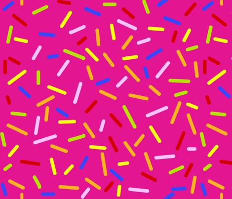 Ice Cream Sprinkles Pink fabric by littlelionworkshop on Spoonflower - custom fabric
