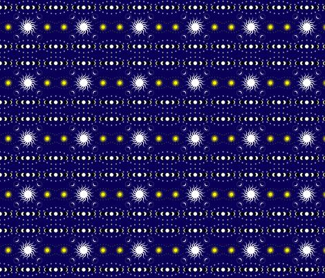 Moon geometry-3 fabric by julia_faranchuk on Spoonflower - custom fabric