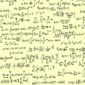 Math Equations on Yellow