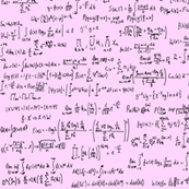 Math Equations on Pink