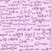 Math Equations on Pink