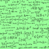 Math Equations on Mint Green