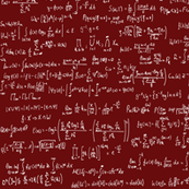 Math Equations - Maroon