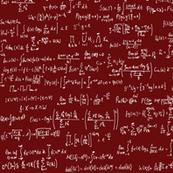 Math Equations - Maroon