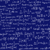 Math Equations - Dark Blue