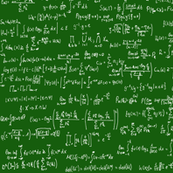 Math Equations - Dark Green