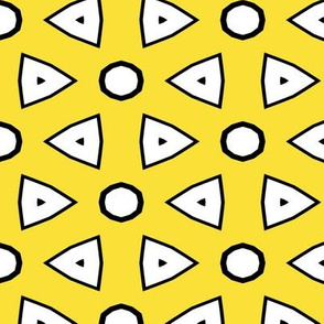 Yellow, White, Black Geometric