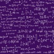 Math Equations - Deep Purple