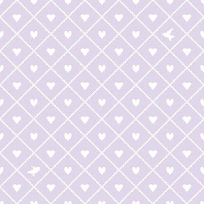 Tiny hearts, tiny birds - Lavender