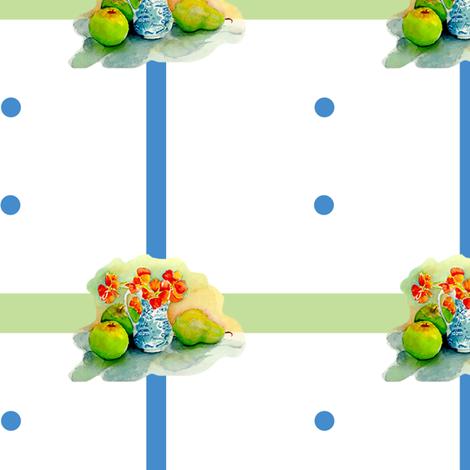 Nasturium checks and dots fabric by erica_lindberg_designs on Spoonflower - custom fabric