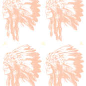 Pink Tribal Indian Head