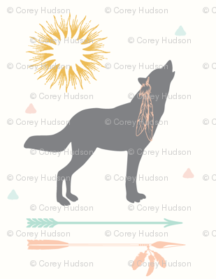 Howling Wolf with Arrows