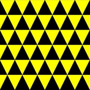 One Inch Black and Yellow Triangles