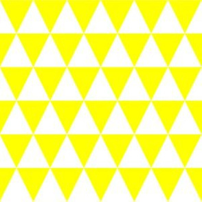 One Inch Yellow and White Triangles