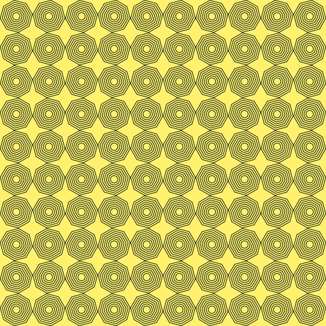 graphic on yellow, large fabric by gargoylesentry on Spoonflower - custom fabric