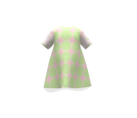 Lime Octagons on pink