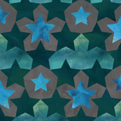 Geometric Watercolor Star Pattern