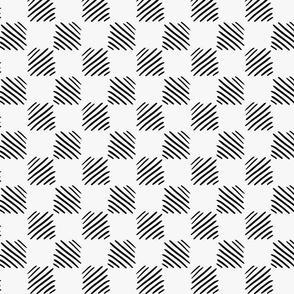 Black marker drawn hatched squares