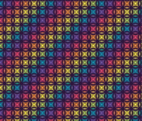 Stained Glass Geometric fabric by electrogiraffe on Spoonflower - custom fabric