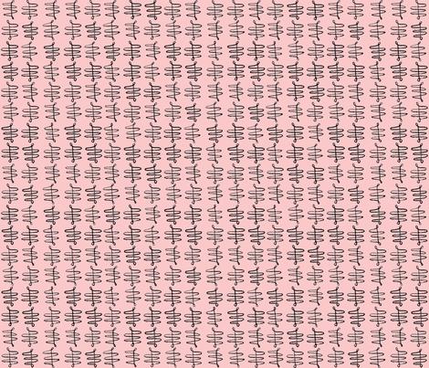 Fleur De Lis Pink fabric by supermoxie on Spoonflower - custom fabric