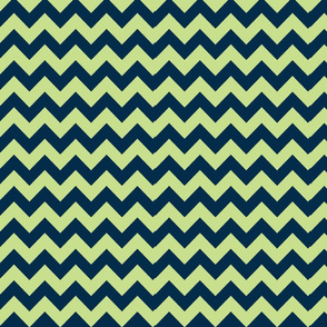 Navy & Mint Chevron