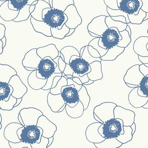 Blue Line Poppies