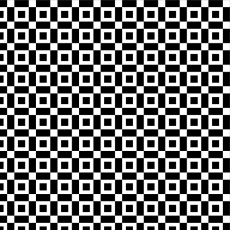 Black Open Squares with White fabric by mtothefifthpower on Spoonflower - custom fabric