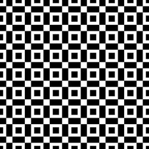 Black Open Squares with White