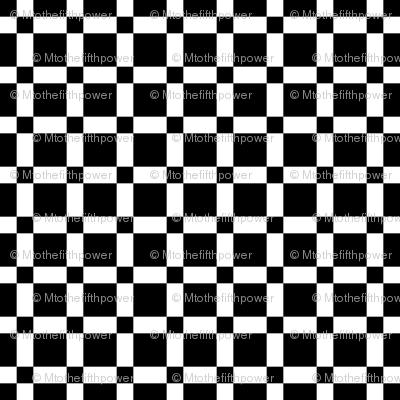 Small Large Black Squares on White