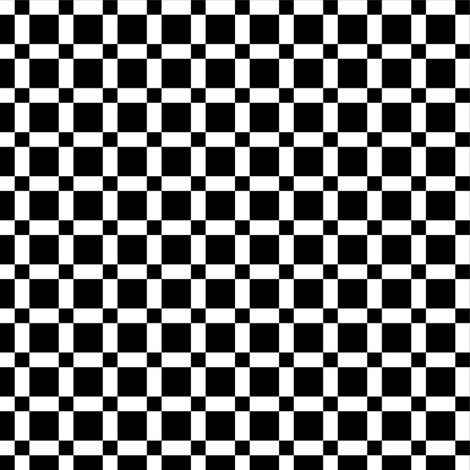 Small Large Black Squares on White fabric by mtothefifthpower on Spoonflower - custom fabric