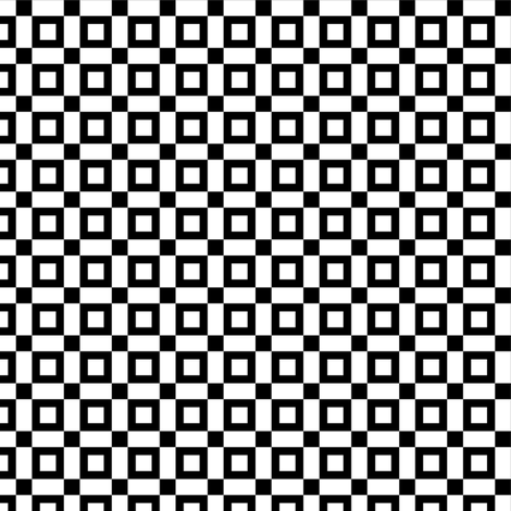 white_open_squares_black fabric by mtothefifthpower on Spoonflower - custom fabric