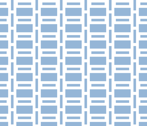 Airy Blue Rectangles fabric by anniecdesigns on Spoonflower - custom fabric