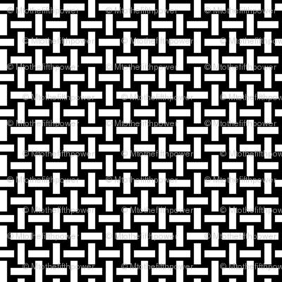 White Basket Weave on Black