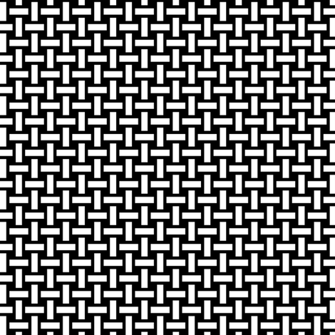 White Basket Weave on Black fabric by mtothefifthpower on Spoonflower - custom fabric
