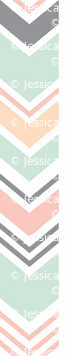 Chevron // Pink/Peach/Mint/Grey