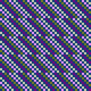Purple Gold Checkers