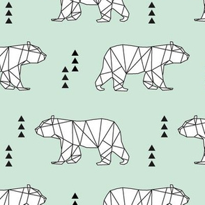 geometric bear // mint
