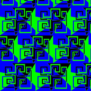 6 - Geometric - Whimsical_Mazes_-_Green_Blue