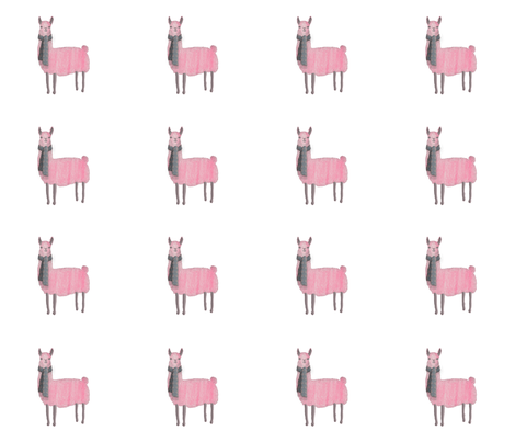 Pink_Llamas fabric by j9design on Spoonflower - custom fabric