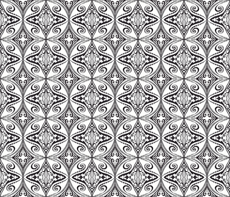 swirly roundel fabric by freeform on Spoonflower - custom fabric