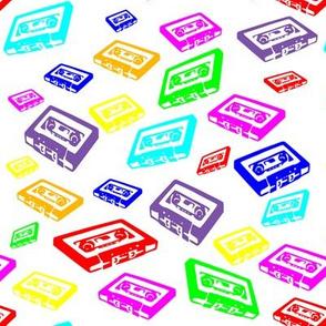 Retro Cassettes Colourful