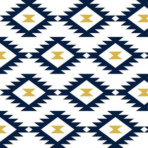 Aztec Navy/White