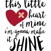 "27"" this little heart of mine i'm gonna make it shine || CHD"