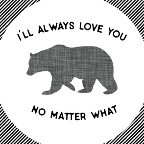 Baby Blanket // I'll Always Love You, No Matter What // Gray Bear